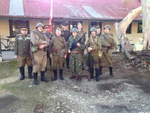 The Soviet contingent at the Old Tailem Town Capture of Berlin event, 2015.