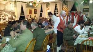 Dinner in the Old Tailem Town Mess Hall following a hard days skirmishing. Old Tailem Town 2015.